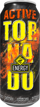 TornadoEnergy ACTIVE 0,45л./12шт. Торнадо