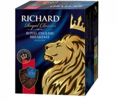 Чай Richard Royal English Breakfast 100х2 черный 1/6  Ричард