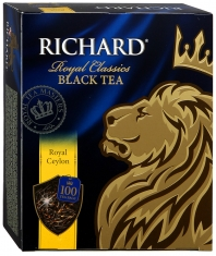 Чай Richard Royal Ceylon 100х2 черный 1/6  Ричард